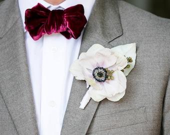 Velvet bowties - perfect for Groom or Groomsmen! No minimum order