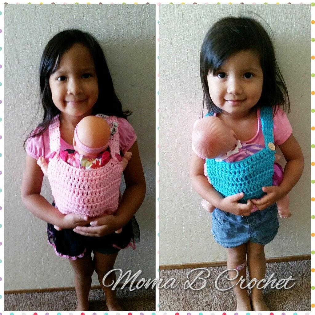 Häkeln Sie Baby Doll Träger Babytrage Puppe häkeln gefüllte