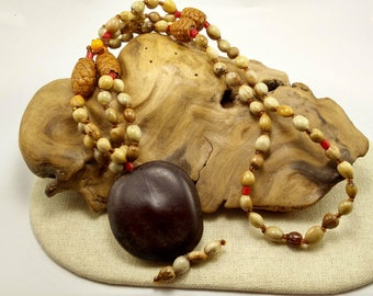 Boho Vintage Seed Pod Necklace