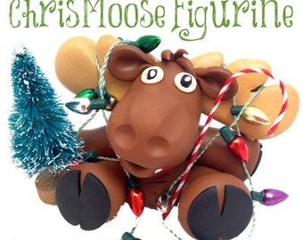 Polymer Clay Christmas Moose Figurine Tutorial - Also for Fondant, Sugar Paste, & Other Sculpting Mediums