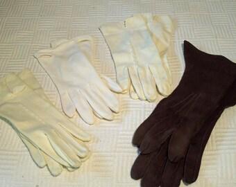 Four Pairs Vintage Ladies Dress Gloves