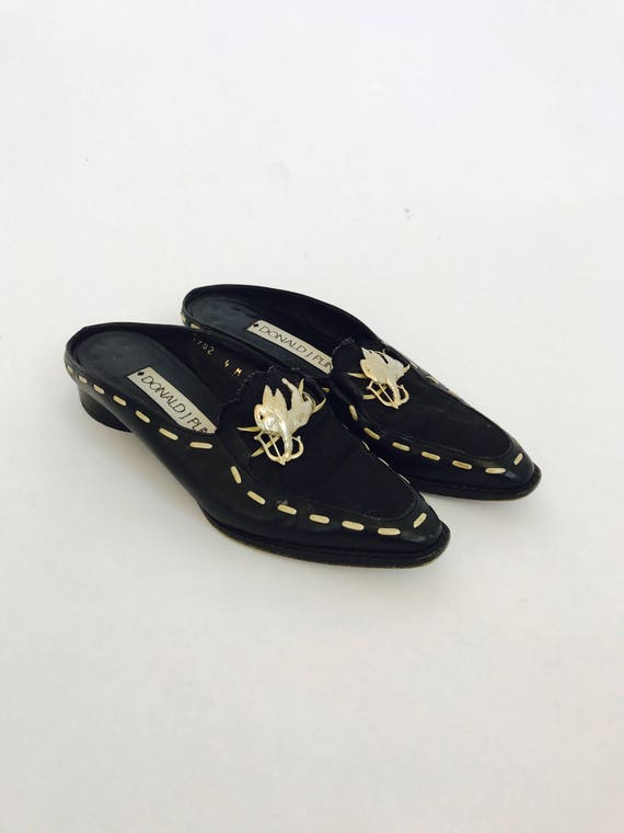 80s Charob Backless Loafers size 4