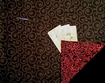 Tarot Cloth. Viking Festoon Jewely Cloth. THE SEER. Reversible spread cloth for tarot cards, runes & altars. Altar cloth. Tarot.
