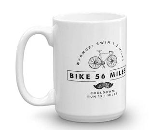 HALF Iron Distance Triathlon Triathlete Vintage Look Coffee Mug