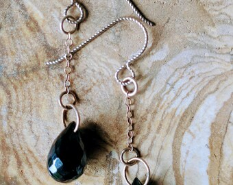 Tear drop black Hematite earrings