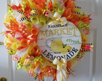 All year wreath, Summer wreath, Indoor wreath, Kitchen wreath, Living room wreath, Spring wreath, Home decor, Home decor wreath, Yellow