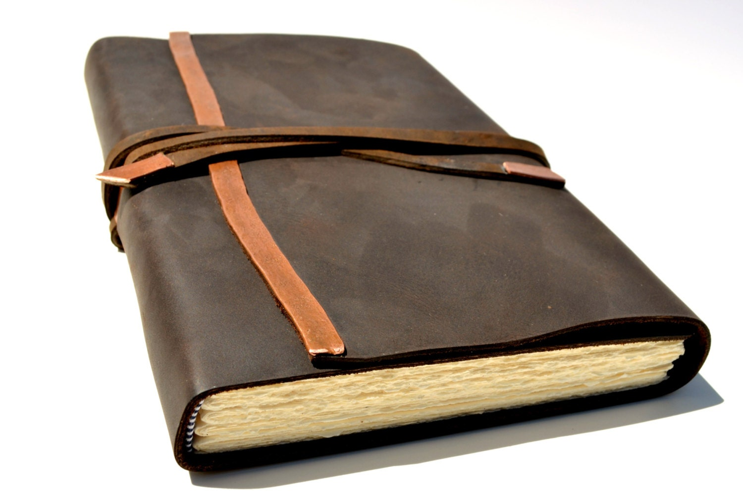Well known Handmade Custom Leather Bound Journal Planner Diary Made to YR52