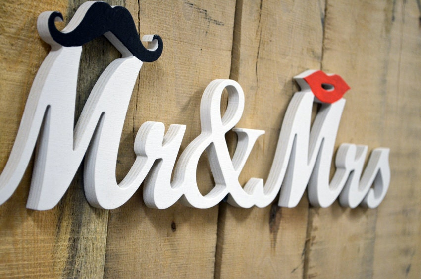 Mr Mrs Sign Mr and Mrs Wedding Signs for Wedding Sweetheart