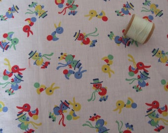 vintage length of nursery print fabric
