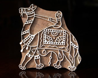Pottery Stamp, Textile Stamp, Indian Wood Stamp, Tjaps, Blockprint Stamp, Printing Stamp Blocks- Camel