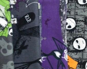 Nightmare Before Christmas Fat Quarter Bundle-5 Different 100 Percent Quality Cotton Fabrics