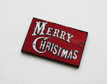 Miniature 1:12 Scale Merry Christmas Sign