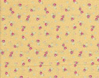 30's Collection - Mini Strawberries - Strawberry Fabric - Mini Floral - Polka Dot Fabric - Atsuko Matsuyama - Yuwa Fabric - Japanese Fabric