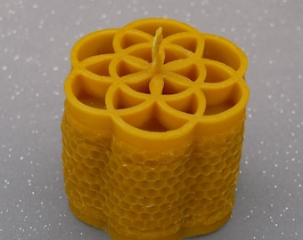 Candle Flower of Life beeswax