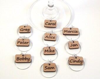 Brady Bunch - Wine Glass Charms