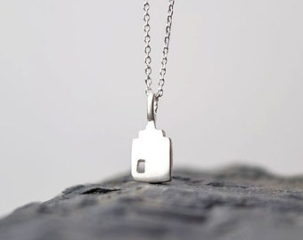 Tiny Silver House Necklace Dutch Canal House Charm Sterling Silver Tiny Dainty  minimal pendant necklace gift friendship mothers day Teen