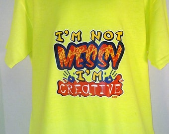 Youths Neon Yellow Heat pressed humorous T- shirts