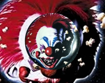 "H055 Killer Klowns From Outer Space 1"" Pinback Button Pin Cult Classic Horror Cinema Film Movie Clown Scary Alien Creepy 80's"