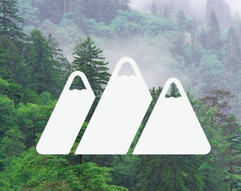 Bold Mountains Decal, Bold Mountain Range Decal, Adventure Decal, Nature Decal, Car/Laptop/MacBook Decal Bold Mountains Sticker x2