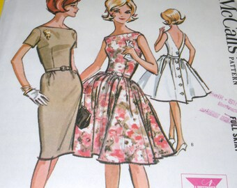1963 UNCUT McCalls 6808 size 14 Dress Pattern