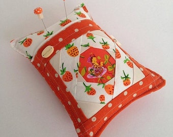 Made to order Nanny bee works the strawberry patch Stitcharmony pincushion