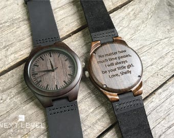 Unique Gifts for Men, Gifts for Dad, Husband Gift, Fathers Day Gift from Daughter, Boyfriend Gift, Mens Wood Watches for Men Wooden Watch