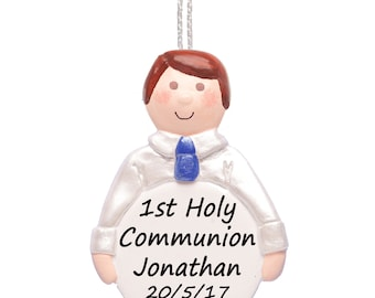Personalised 1st Holy Communion Gift for Boys, First Communion Keepsake by Truly for You