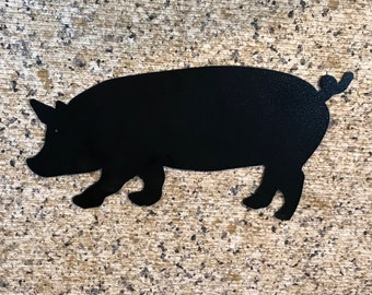 PIG metal art, metal art, metal wall art, metal wall decor, metal wall sculpture, pig decor, farmhouse decor, farm decor, pig lover, pig