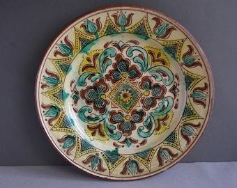 Ukrainian earthenware plate - Ceramic plates - Ukrainian pattern ceramics - Clay pots - Ceramic bowl - Hand made. & Ceramic plate | Etsy