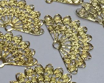 Gold Fan Filigree-Fan Filigree-Gold Filigree-Filigree