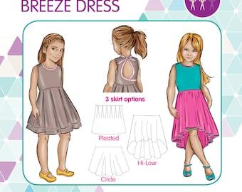 PATTERN Breeze Dress - PDF Sewing Pattern - Instant Download - Tadah Patterns