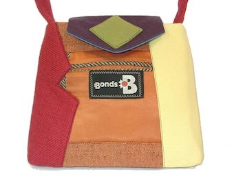 Little William #1218- Recycled Suit Coat Handbag - Small Shoulder Bag - Colorful Handbag - Upcycled Handbag - Rainbow Purse - Rainbow Bag