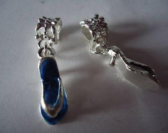 Blue heel tong charm pendant