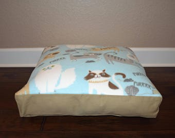 "Ready to Ship - 22"" Square Personalized Cat Bed"