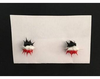 90's Rubber Spike Stud Earrings