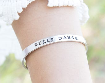 Belly Dance Bracelet - Stamped Jewelry - Tribal Fusion - Belly Dance Jewelry