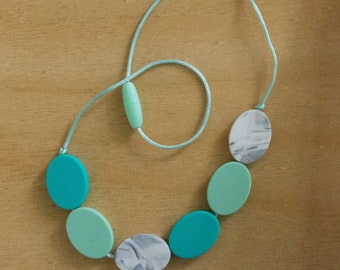 Silicone Necklace 01001100   Breastfeeding Necklace   Baby Shower    Sale