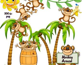 Clip Art:  Monkey Around Png Files no 118