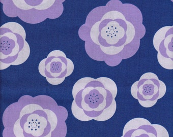 1/2 yd. peonies, navy (imperial pheasant collection)