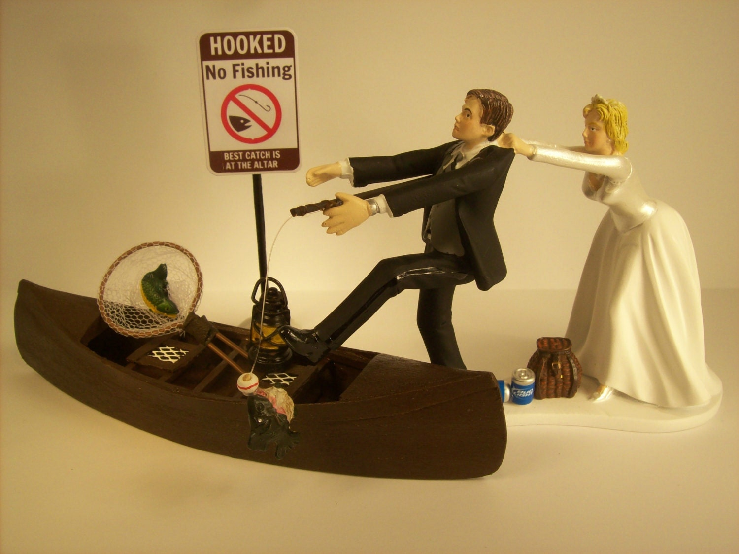 no wedding cake topper no fishing come back wedding cake topper w boat 17946