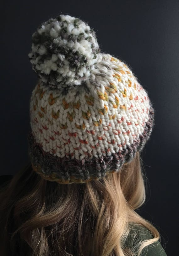 Custom Knit Hat Fair Isle Hat Wool Hat Beanie Knitted Hat