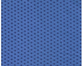 HALF YARD - STOF Fabrics - Asanoha Design Blue Colorway - Quilters Basic Harmony Collection 4520-601
