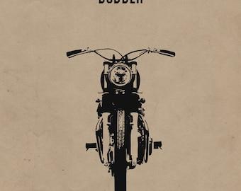 Bobber Motorcycle Print