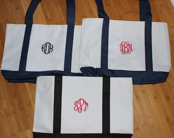 Monogrammed Tote Bag for Brides, Bridesmaids, Day at the Beach, Sports!