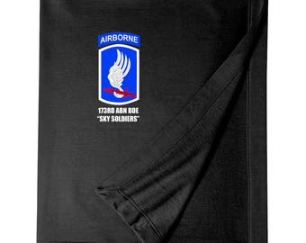 "173rd Airborne Brigade ""Sky Soldiers""  Embroidered Blanket-3927"