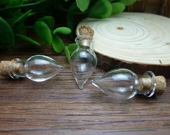 5 x 13x27mm a mano caer en forma de globo de cristal de botellas de vidrio claro / vidrio botella / de cristal bulbos N119