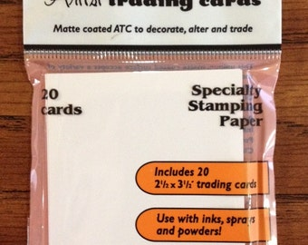 Ranger Inkssentials MATTE Specialty Stamping ATC (pack of 20 blank Artist Trading Cards)