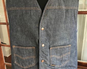 Vintage 1970's Sears and Roebuck Denim Vest