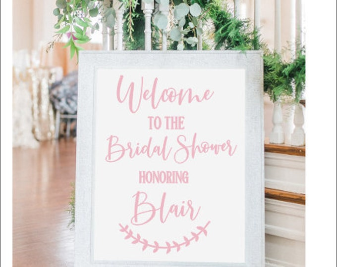Bridal Shower Decal Modern Feminine Decor Bridal Shower Wedding Shower Wedding Decor Decal for Chalkboard Acrylic Bridal Sign Personalized
