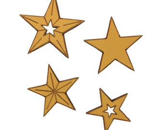 Star Magnets | Magnets | Fridge Magnets | Home Decor | Kitchen Decor | Silver Stars | Magnet Set | Gold Stars | Stars | Made in Maine